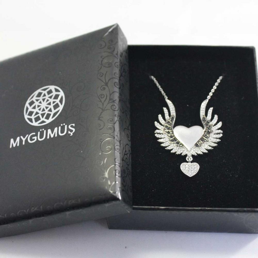 İsme Özel Sihirli Kanatlar Gümüş Kolye MY101261 8928 Thumb