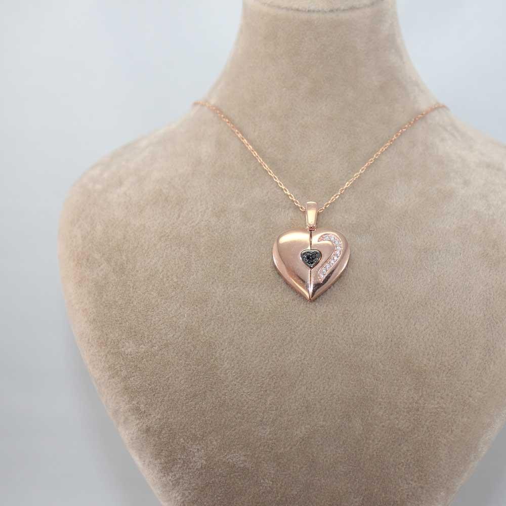 Özel Tasarım İsimli Kalp Kolye MY0301043R 7485 Thumb