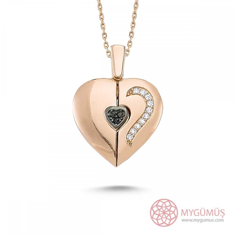 Özel Tasarım İsimli Kalp Kolye MY0301043R 9449 Thumb