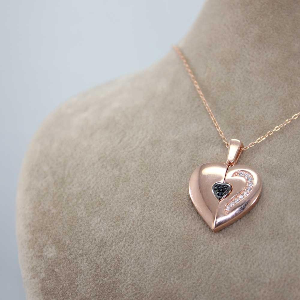 Özel Tasarım İsimli Kalp Kolye MY0301043R 7487 Thumb