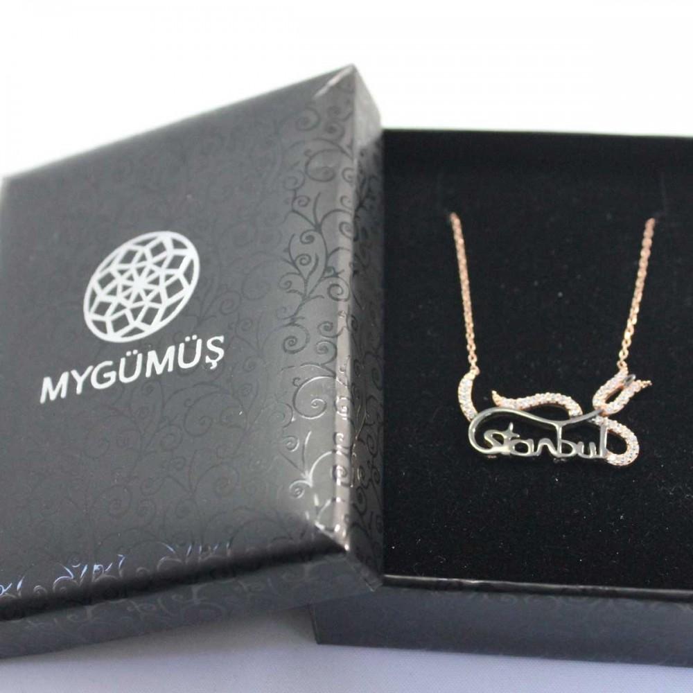 İstanbul Lale Motifli Gümüş Kolye MY101248 8952 Thumb