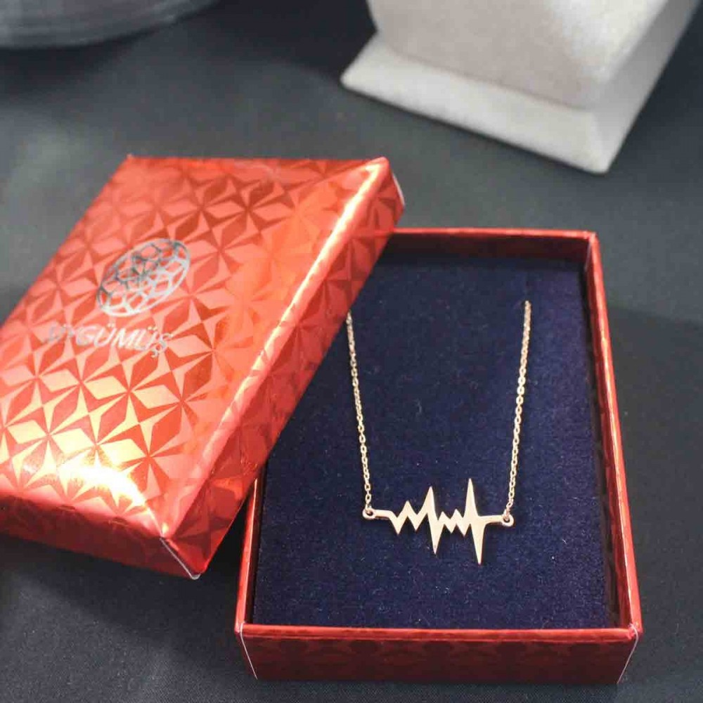 Kalp Atışı (Ritmi) Gümüş Kolye MY101368 10347 Thumb