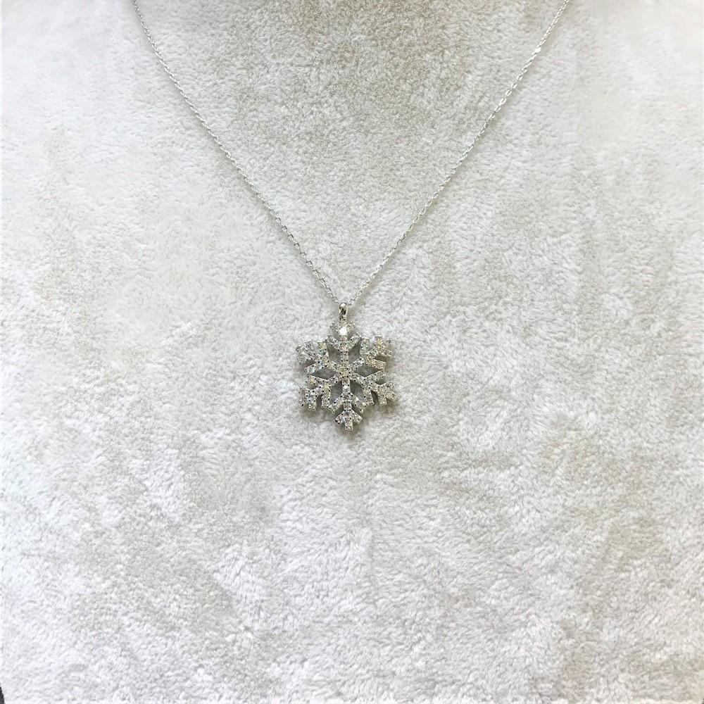 Kar Tanesi Gümüş Kolye MY100071 13917 Thumb