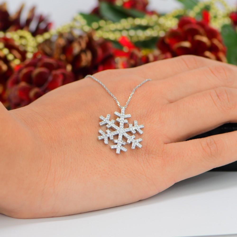 Kar Tanesi Gümüş Kolye MY101794 10780 Thumb