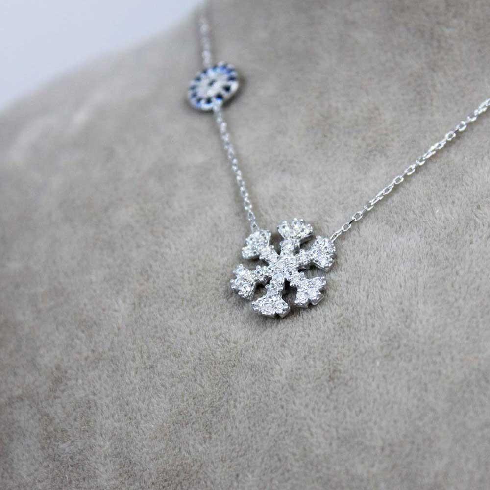 Gümüş Kar Tanesi Kolye MY0201033 7293 Thumb
