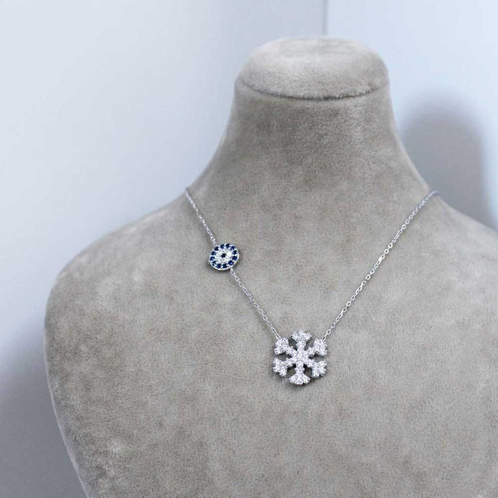 Gümüş Kar Tanesi Kolye MY0201033 7294 Thumb