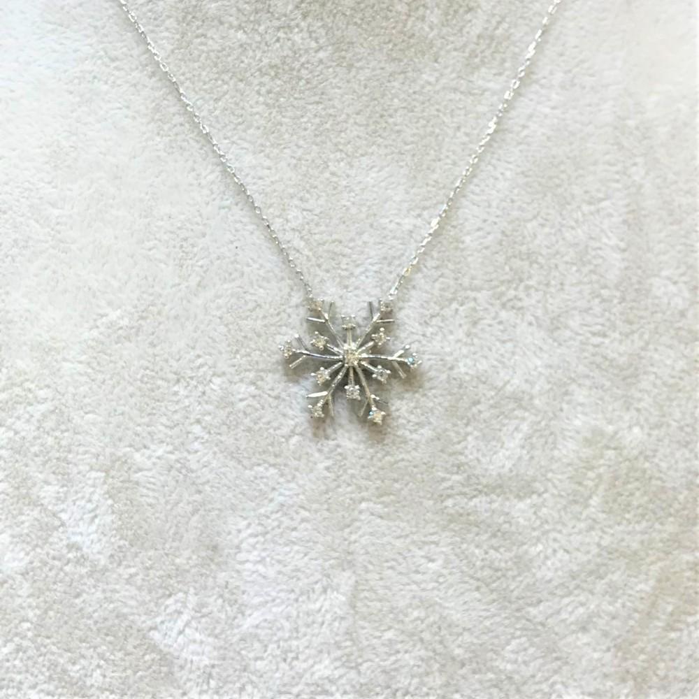 Kar Tanesi Zirkon Gümüş Kolye MY111081 13914 Thumb