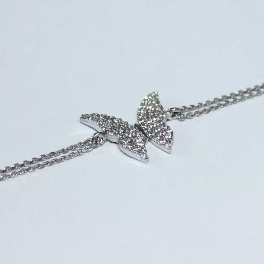 Kelebek Figürlü Gümüş Bileklik MY100065 6909 Thumb