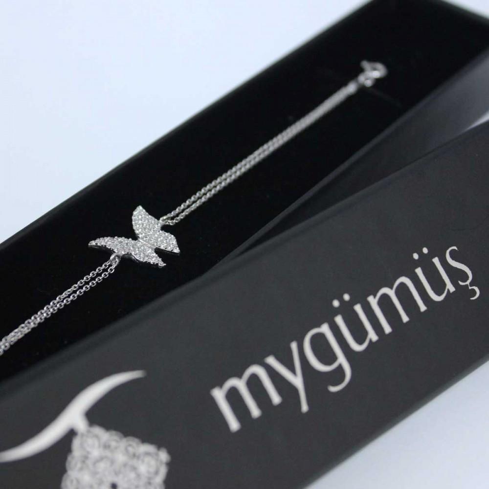Kelebek Figürlü Gümüş Bileklik MY100065 6910 Thumb