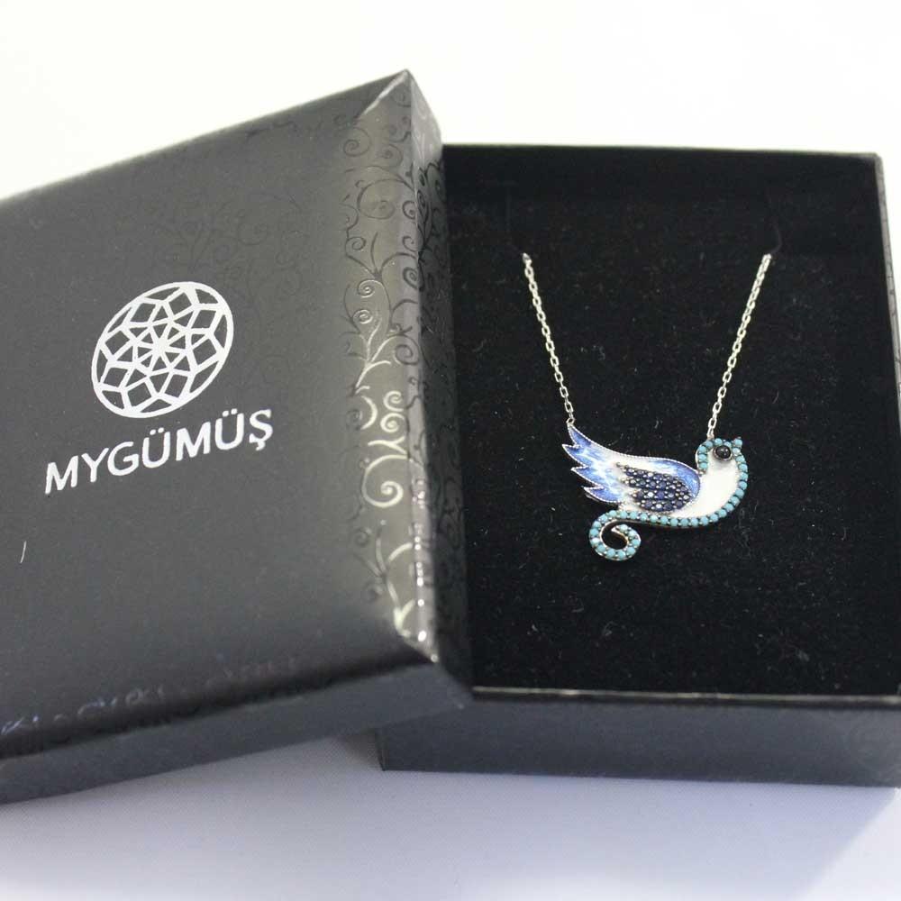 Minik Serçem Gümüş Kolye MY0201015A 8026 Thumb