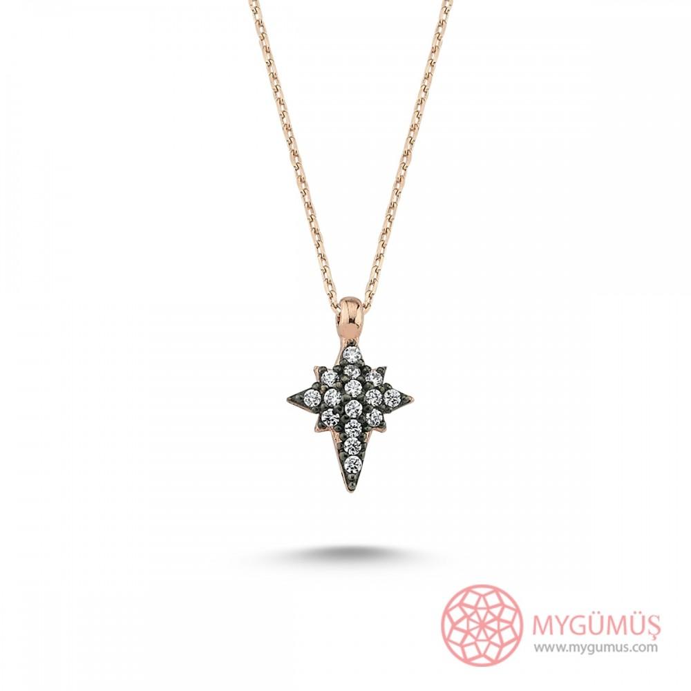 Kutup Yıldızı Gümüş Kolye MY101419 9663 Thumb