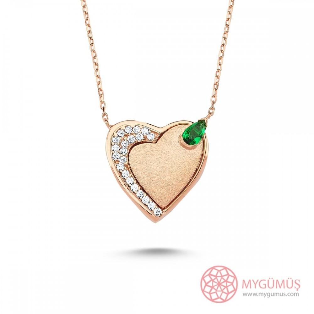 Mıknatıslı Kalp Gümüş Kolye MY101324 9124 Thumb