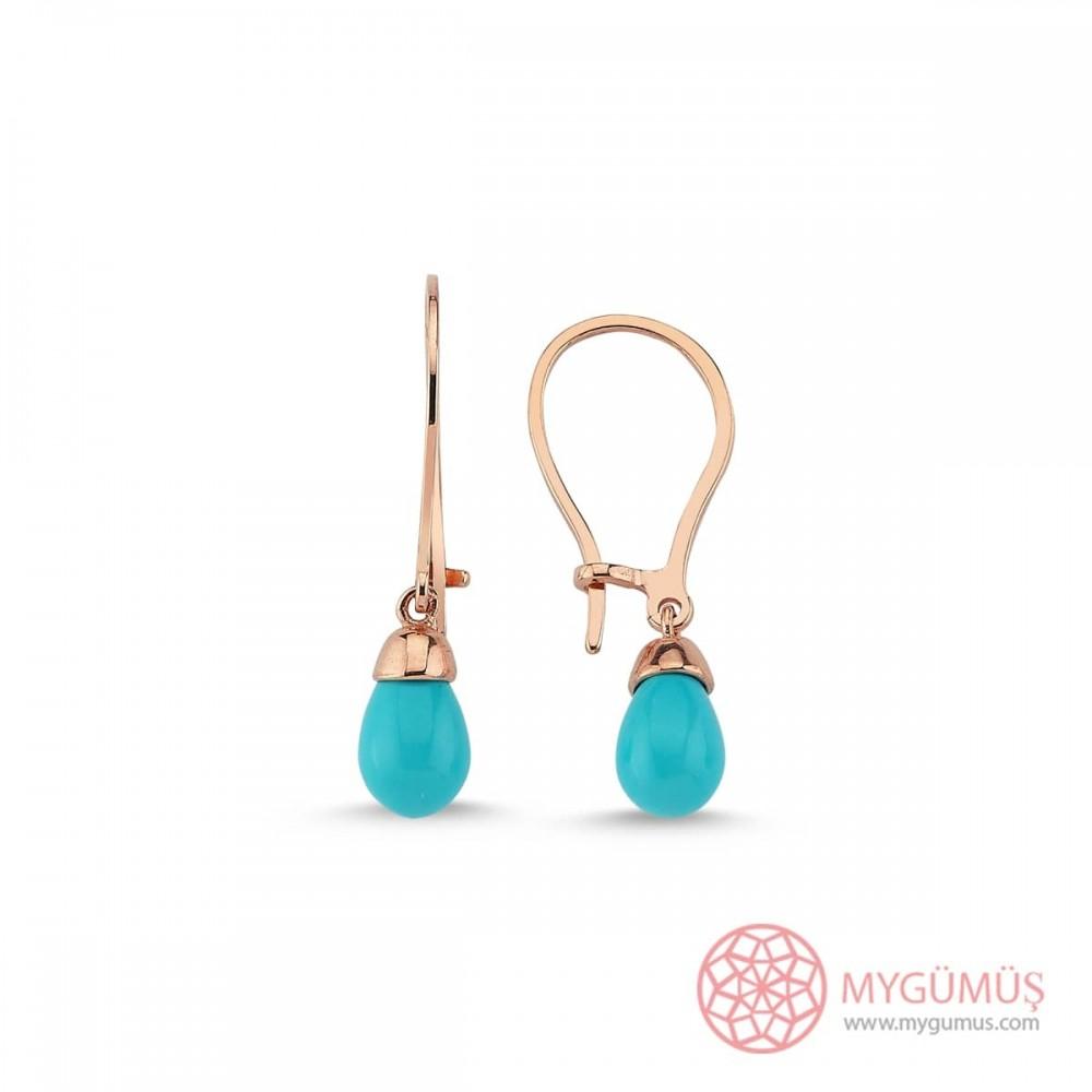 Mavi İnci Drop Gümüş Küpe MYG34 9606 Thumb