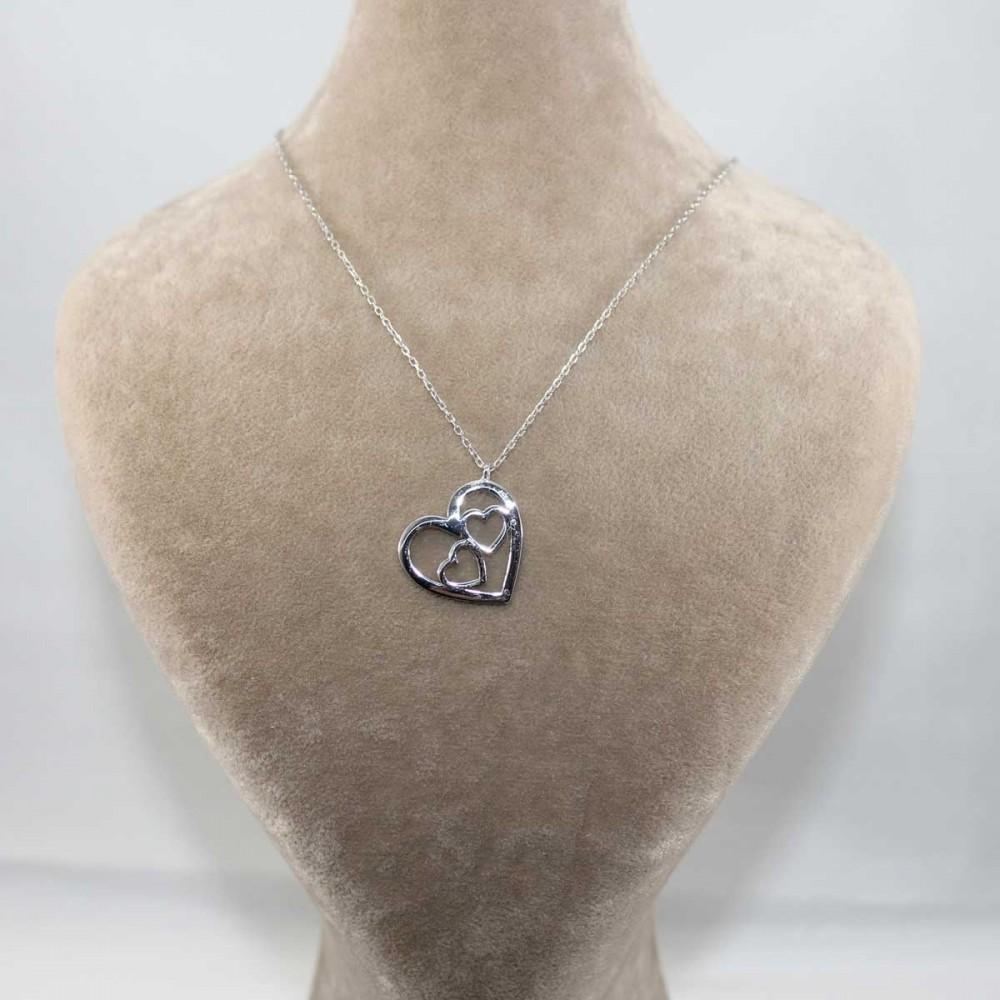 Minik Kalpler Gümüş Kolye MY101269 9019 Thumb