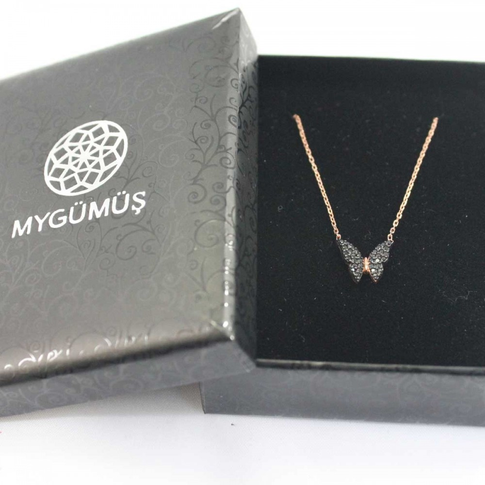 Minik Gümüş Kelebek Kolye MY100059 8642 Thumb