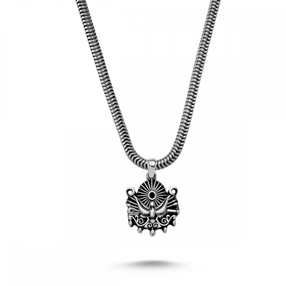 Osmanlı Tuğra Erkek Gümüş Kolye MY01041 8874 Thumb
