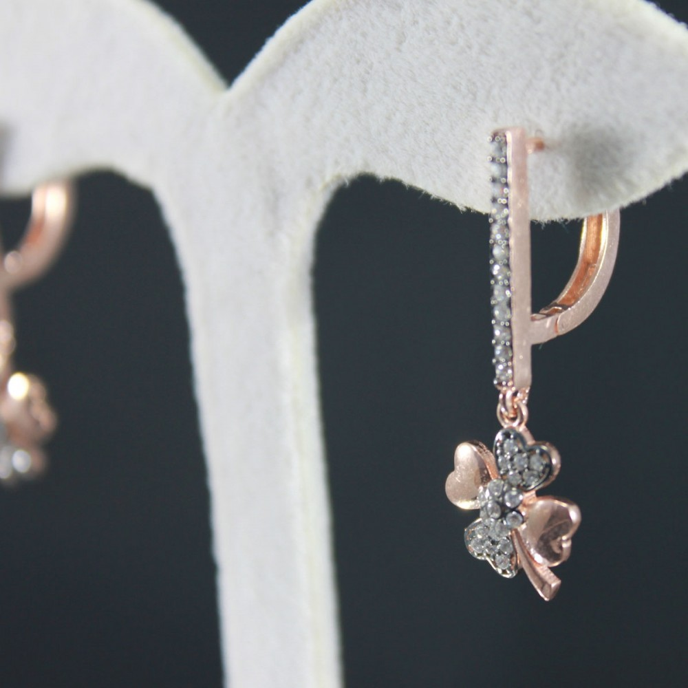 Özel Tasarım Yonca Gümüş Küpe MY102011 10312 Thumb