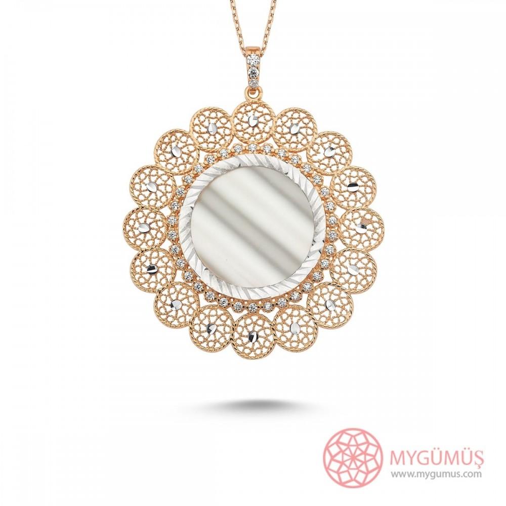 Payitaht Sedefli Gümüş Kolye MY101671 10041 Thumb