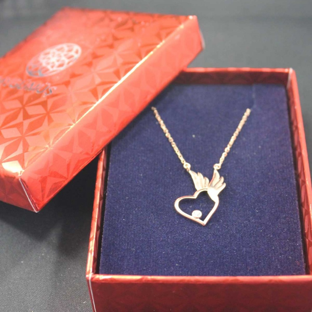 Pietra Kanatlı Kalp Gümüş Kolye MY101658 10442 Thumb