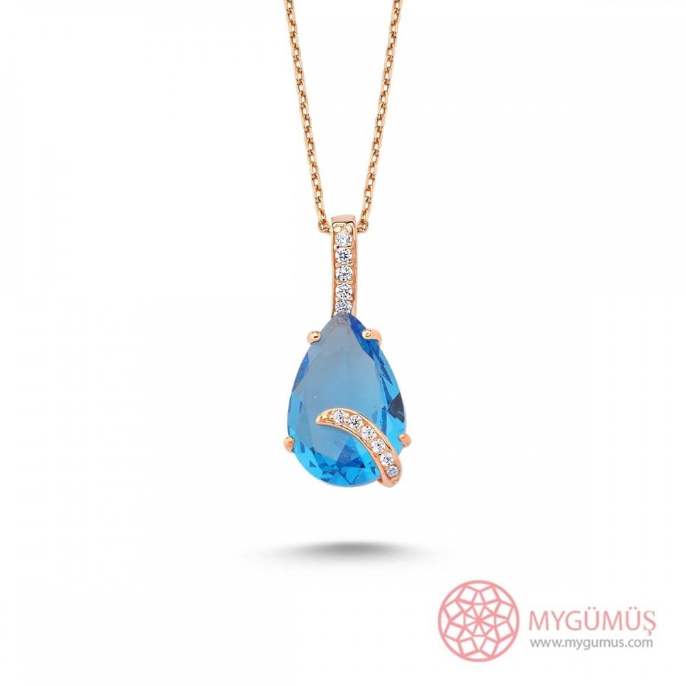 Pırlanta Montür Aqua Gümüş Kolye MY101681 10059 Thumb