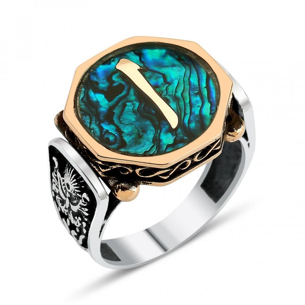 Okyanus Sedefli Elif Harfi Gümüş Yüzüğü 26 2958 Thumb