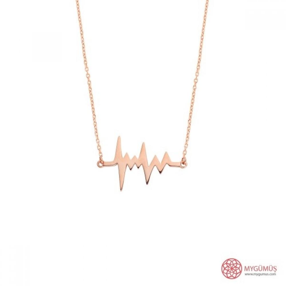 Kalp Atışı (Ritmi) Gümüş Kolye MY101368 9840 Thumb