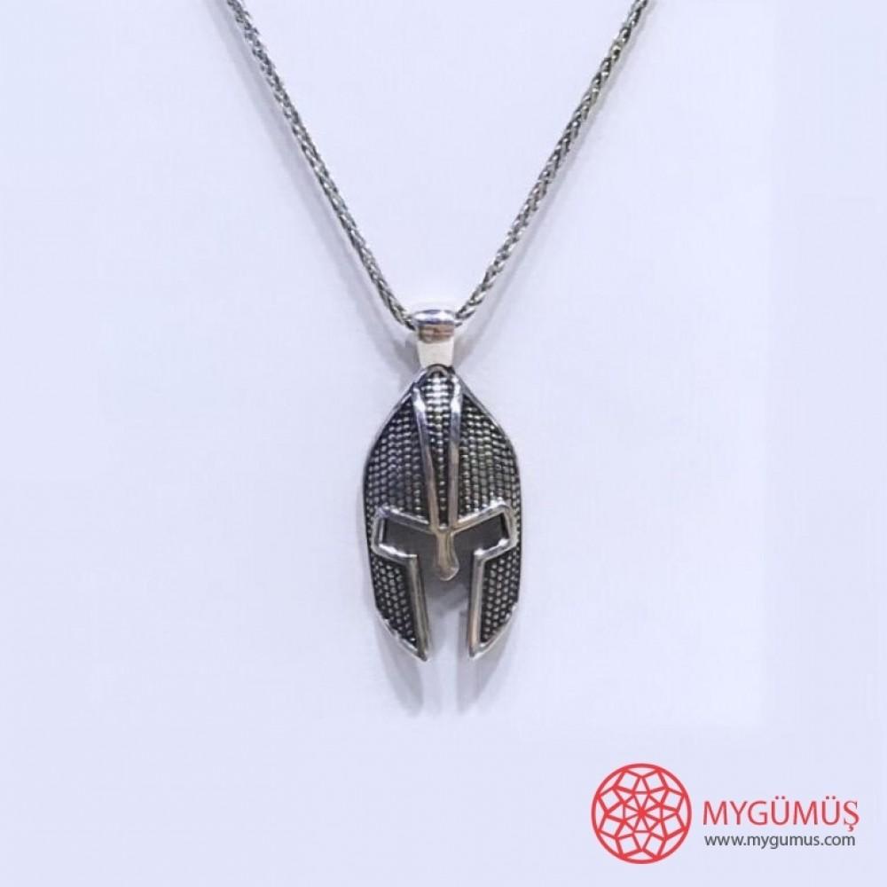 Savaşçı Zırhı Erkek Gümüş Kolye MY01039 11606 Thumb