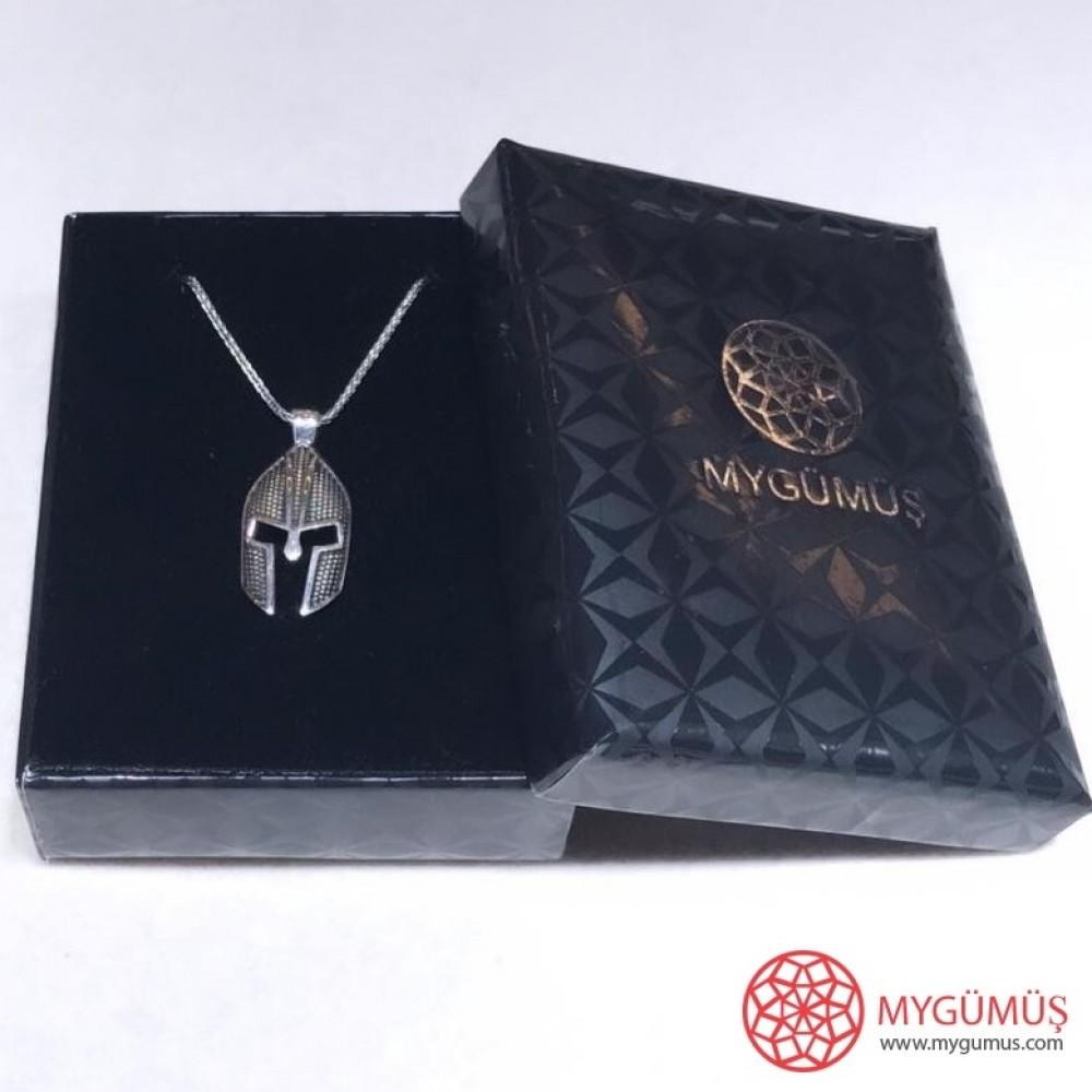 Savaşçı Zırhı Erkek Gümüş Kolye MY01039 11605 Thumb