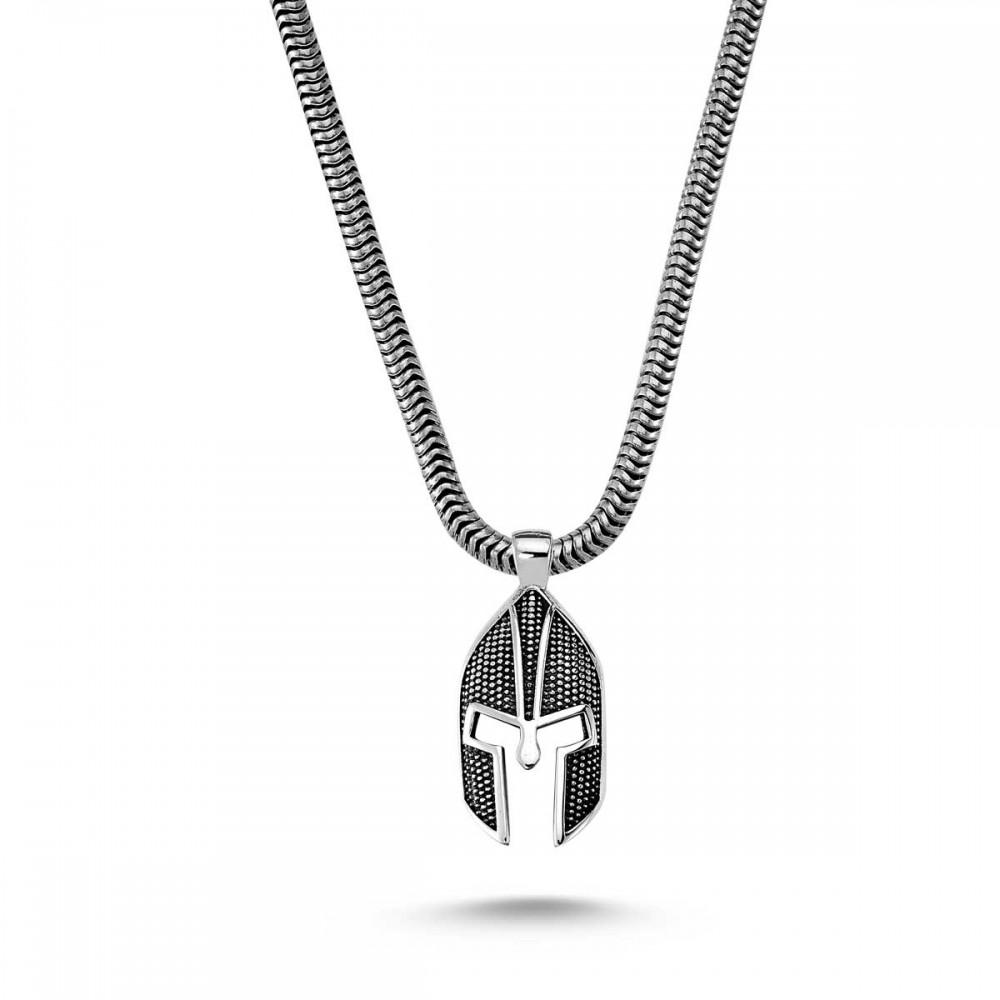 Savaşçı Zırhı Erkek Gümüş Kolye MY01039 8199 Thumb