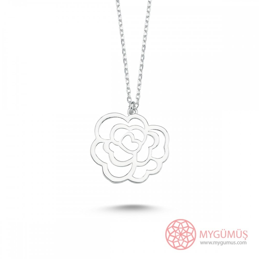 Sevgi Çiçeği Gümüş Kolye MY101444 9738 Thumb