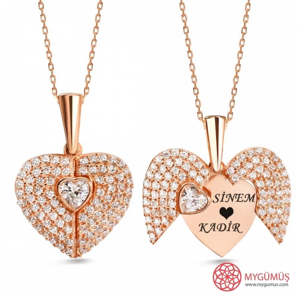 İsme Özel Sihirli Kalp Gümüş Kolye MY101442 9726 Thumb