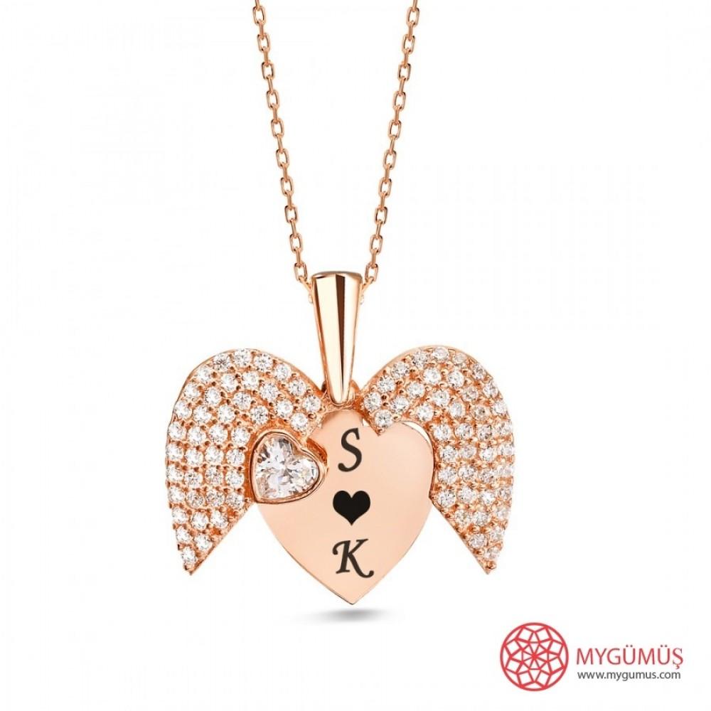 İsme Özel Sihirli Kalp Gümüş Kolye MY101442 9728 Thumb