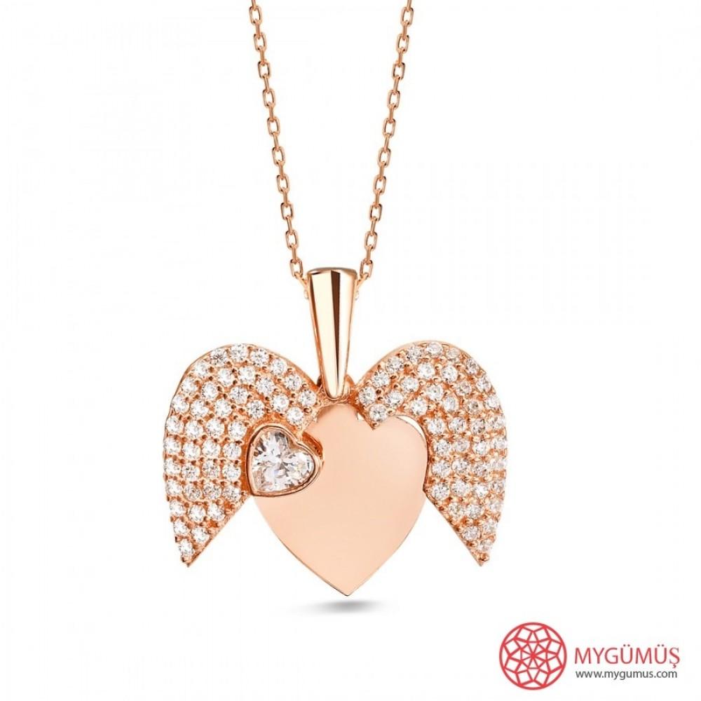 İsme Özel Sihirli Kalp Gümüş Kolye MY101442 9727 Thumb