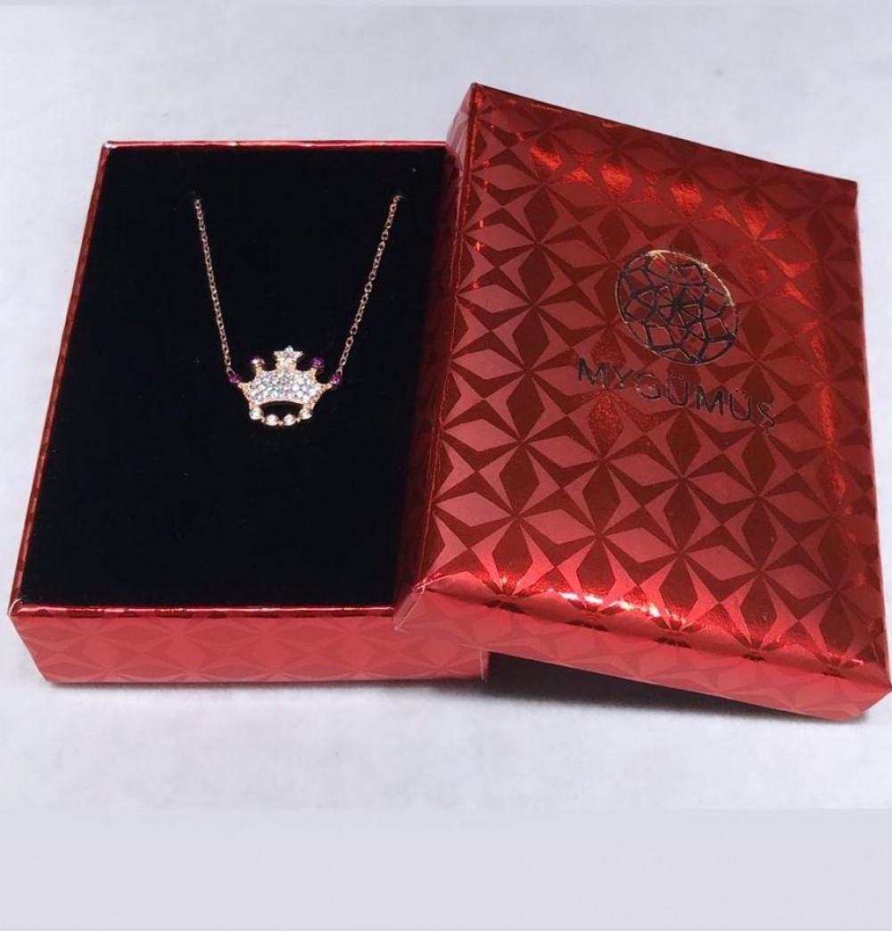 Taç Gümüş Kolye MY0201032 11549 Thumb