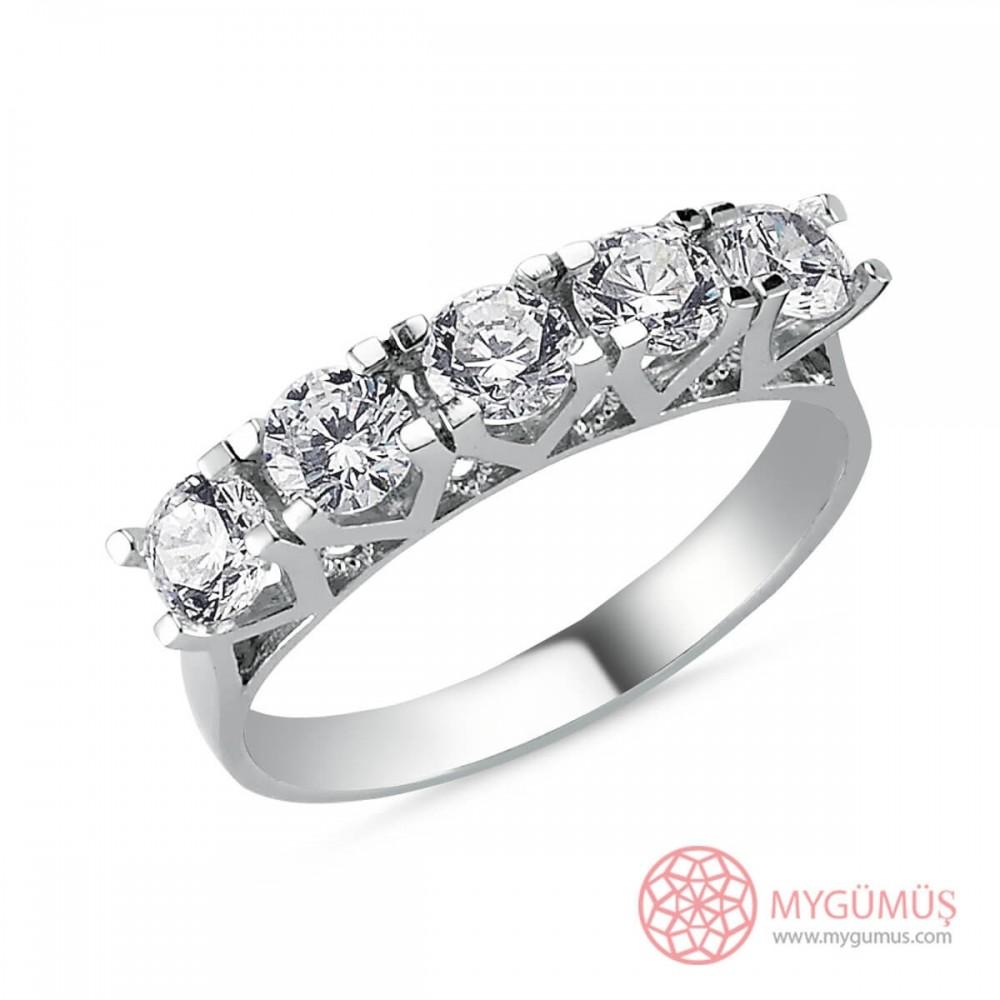 Özel Tasarım Beştaş Gümüş Yüzük MY101378 9635 Thumb