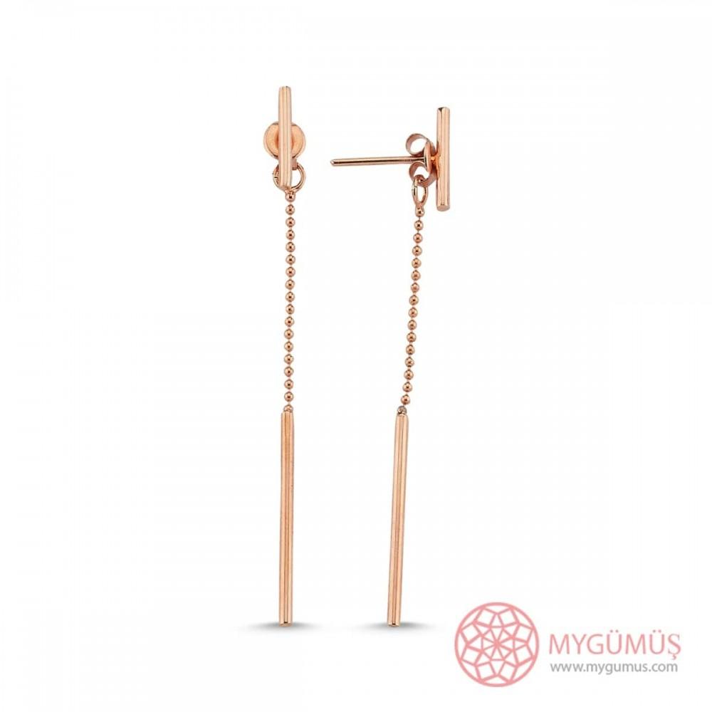 Tasarım Top Zincirli Gümüş Küpe MYG32 9604 Thumb