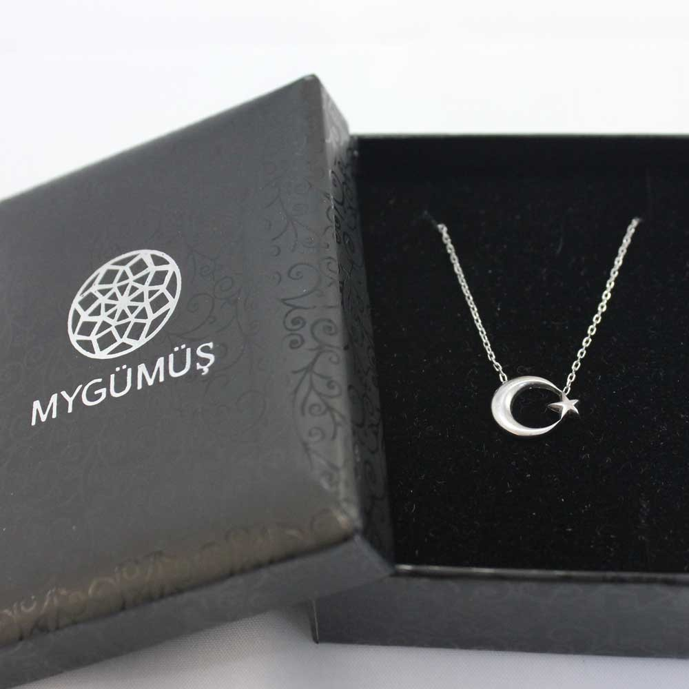 Ay Yıldız Gümüş Kolye MY100055 7499 Thumb