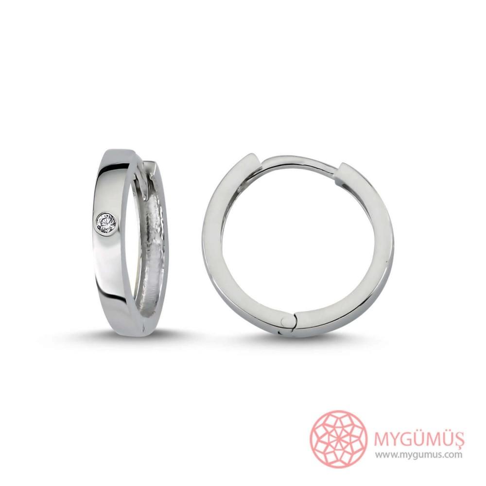 Tek Taş Halka Gümüş Küpe MY101601 9934 Thumb