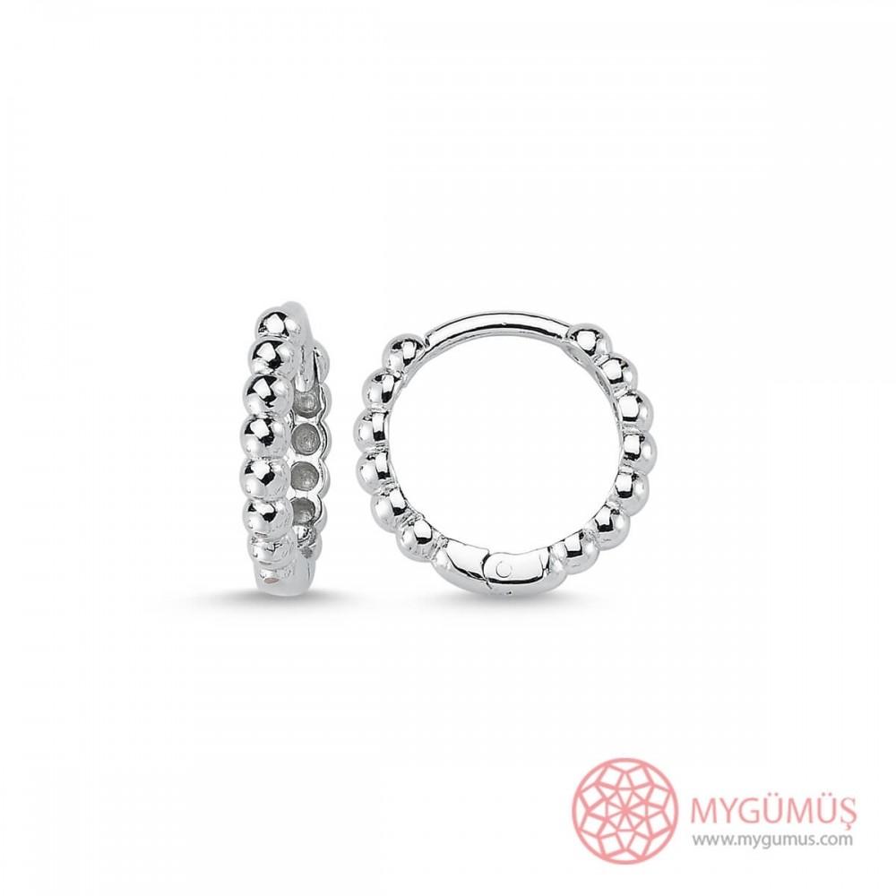Tırtıklı Gümüş Küpe MY101374 9732 Thumb