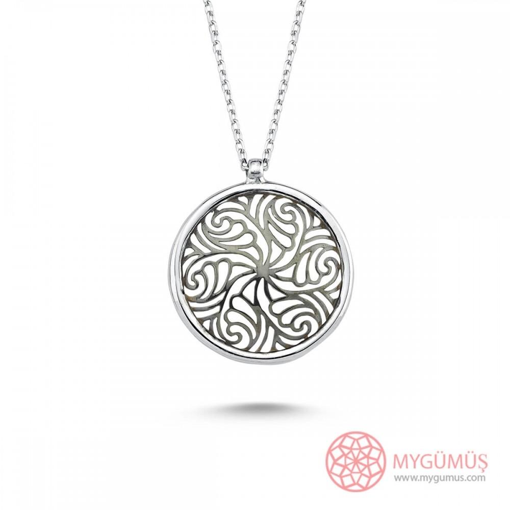 Yaşam Çiçeği Gümüş Kolye MY101852 10594 Thumb