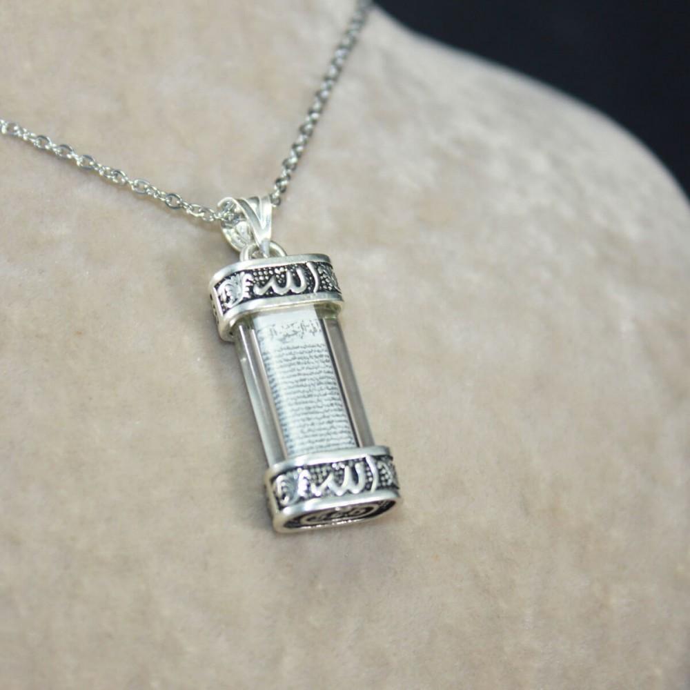 Yeni Model Cevşen Gümüş Kolye MY101407 10281 Thumb