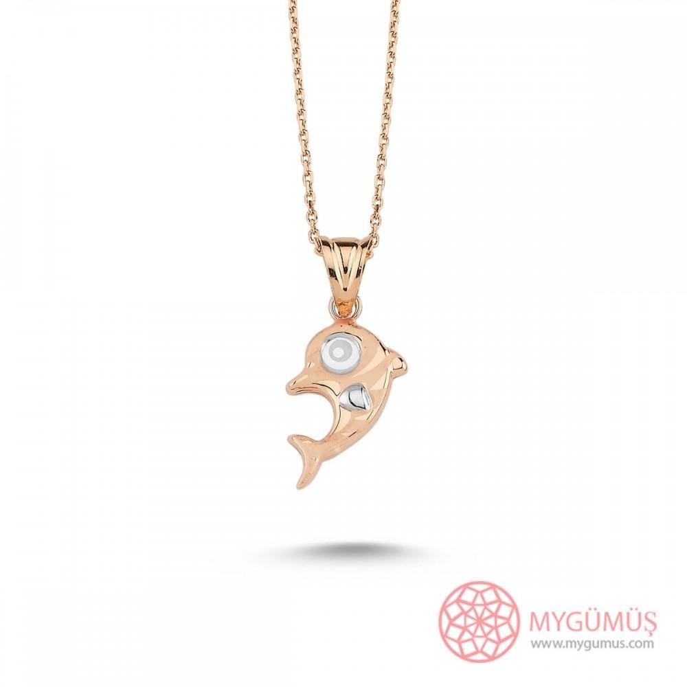 Yunus Balığı Gümüş Kolye MY101416 9659 Thumb