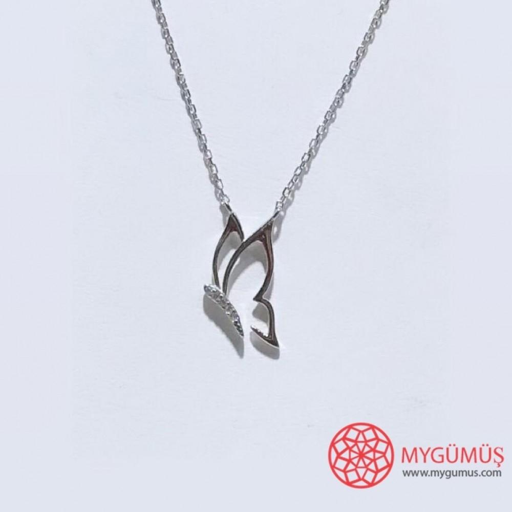 Kelebek Gümüş Kolye MY101876 11524 Thumb