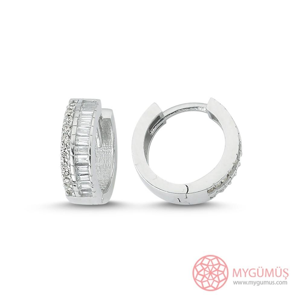 Baget Taşlı Özel Kesim Gümüş Küpe MY102047 9991 Thumb