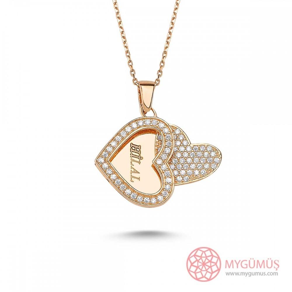 Taşlı Kalp Gümüş İsimli Kolye MY100082 9459 Thumb