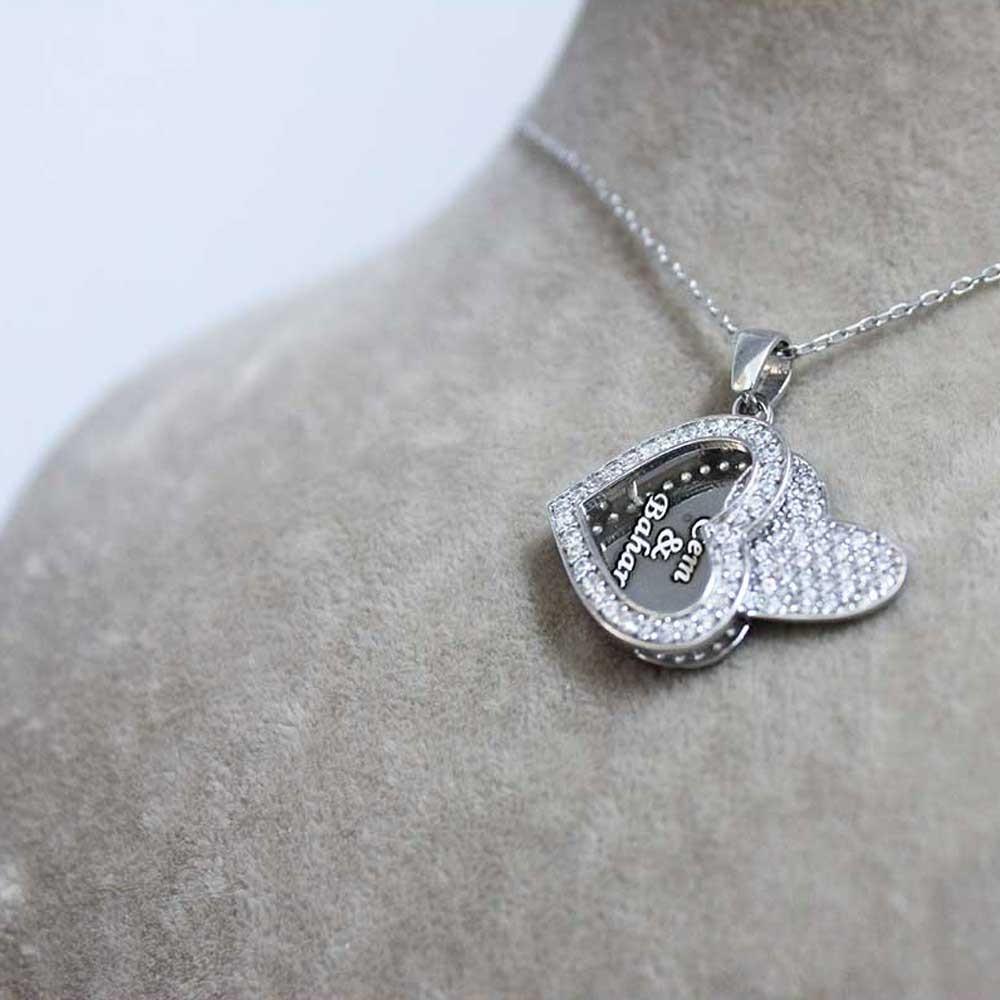Taşlı Kalp İsimli Gümüş Kolye MY1000081 7175 Thumb