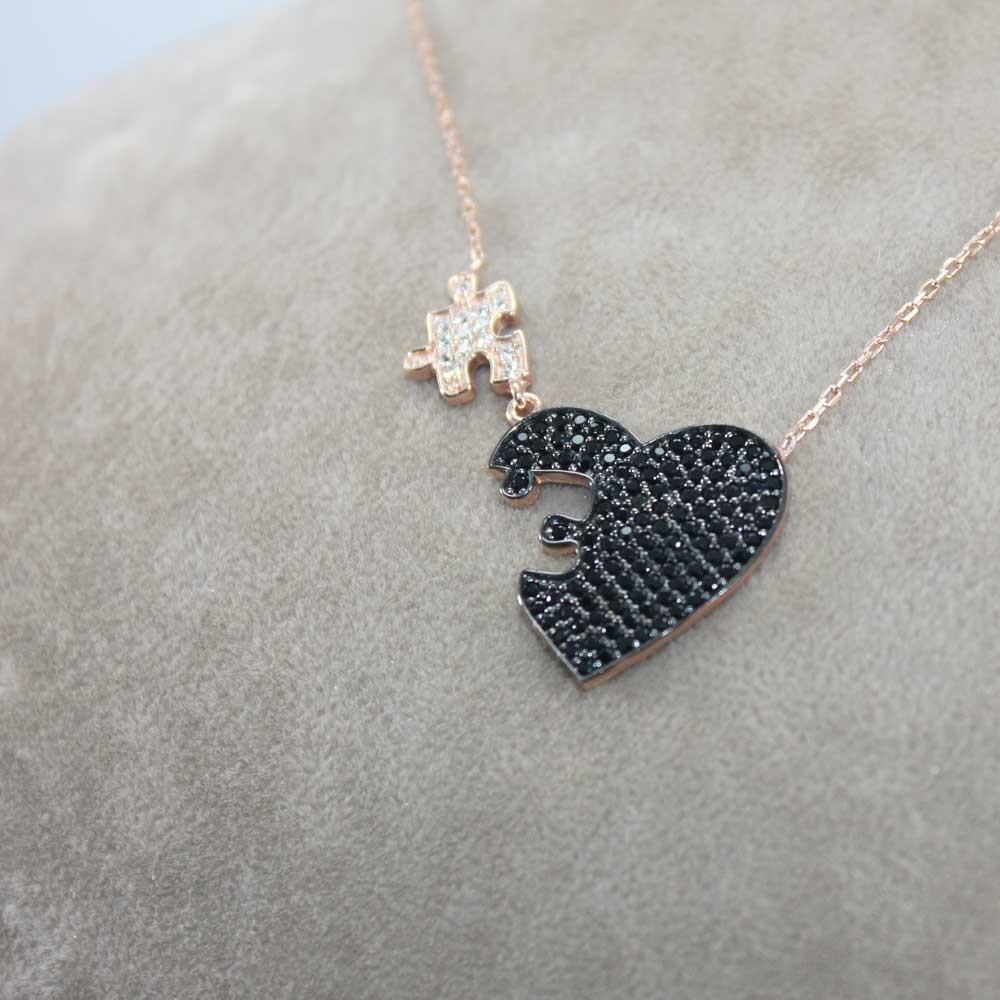 Kalbimin Parçası Puzzle Gümüş Kolye MY0301054S 7698 Thumb