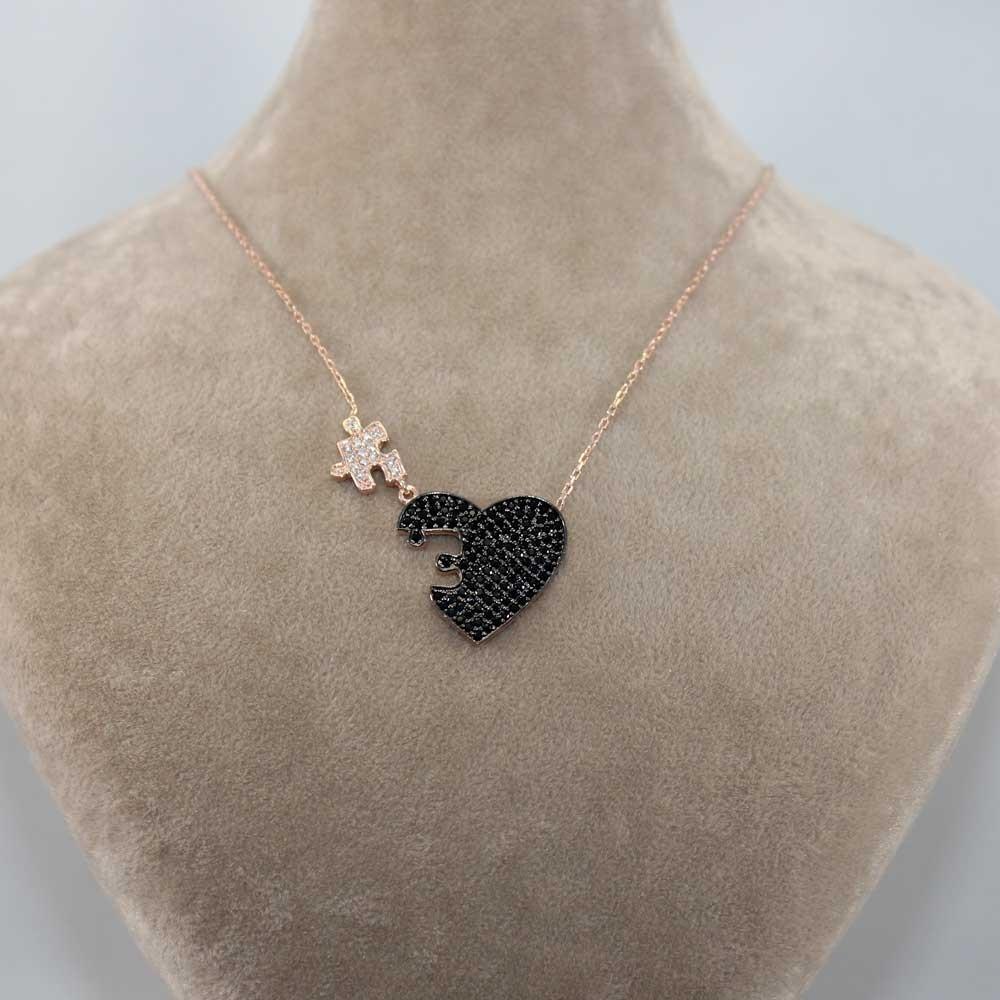 Kalbimin Parçası Puzzle Gümüş Kolye MY0301054S 7699 Thumb